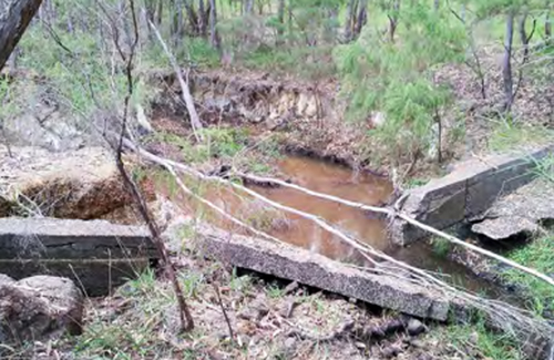Treen Brook prior to restoration