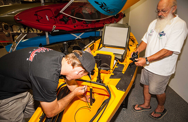 Kayak accessories installation