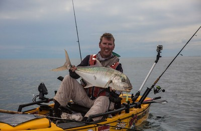 Trevally caught on kayak