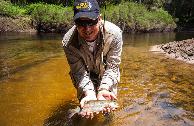Warren River rainbow trout on fly