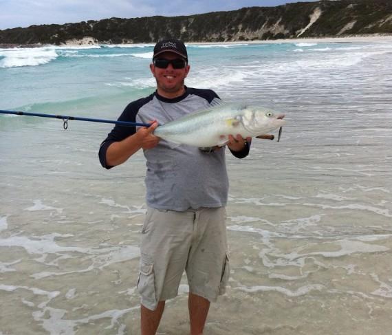 Salmon from Perth beach