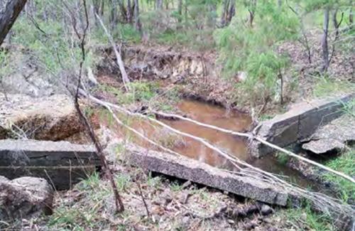 Treen Brook prior to restoration