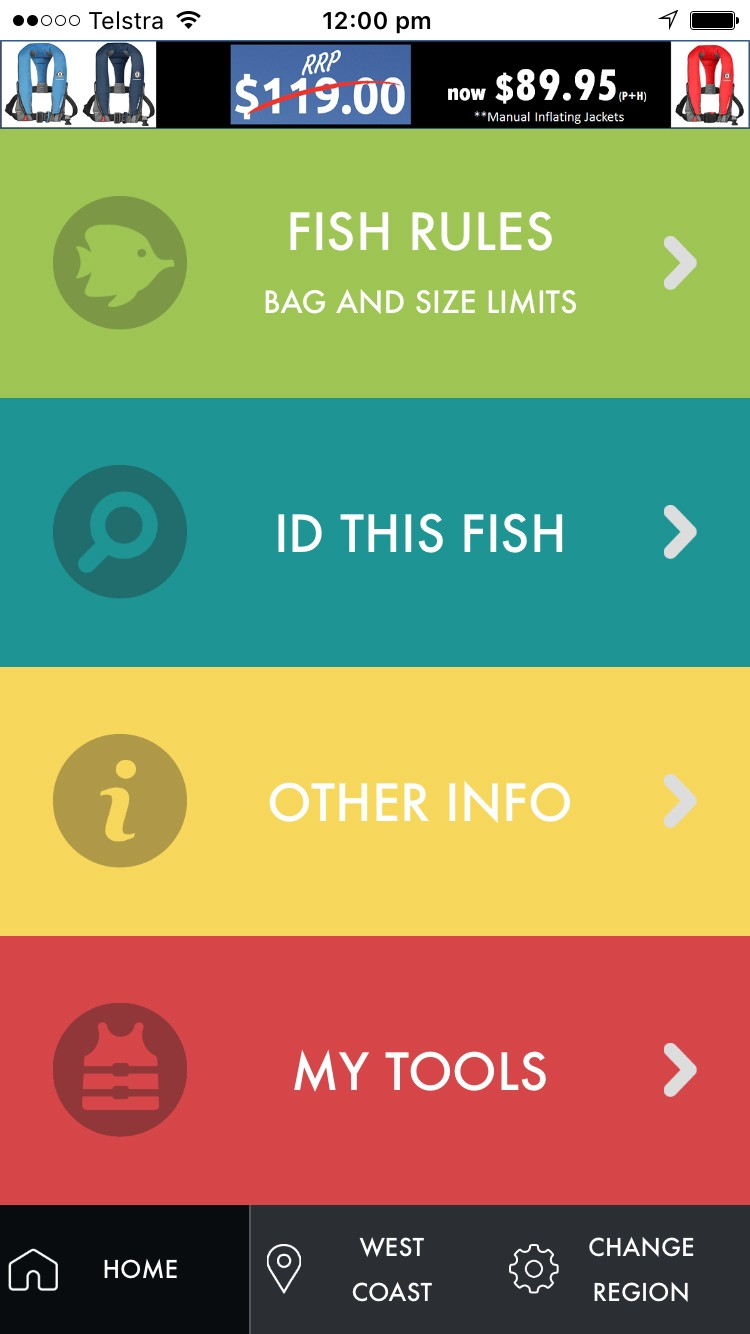 Recfishwest App Screenshot 1