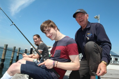 Fishability fishers with a volunteer
