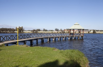 Riverside gardens jetty gazebo