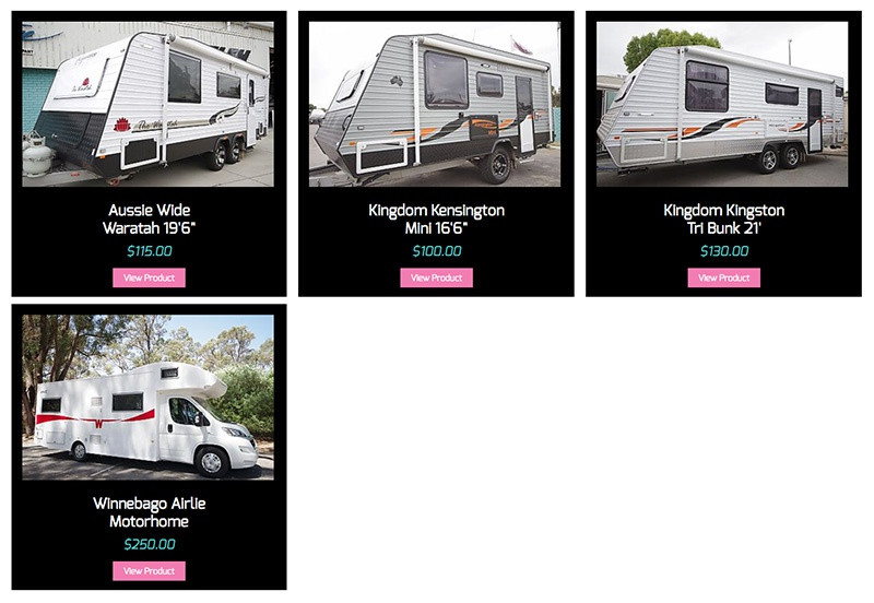 All Boats and Caravans hire fleet