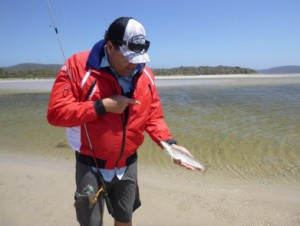 Whiting fishing the flats