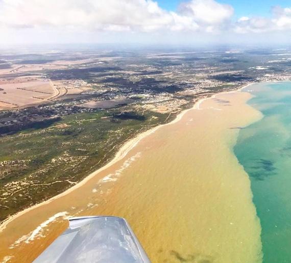 Geraldton coastine after heavy rainfall