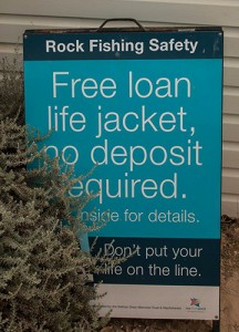 Life Jacket Loan Sign