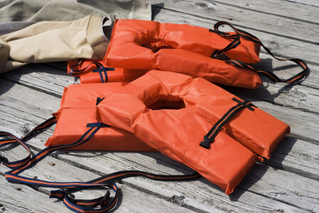 Old style life jackets