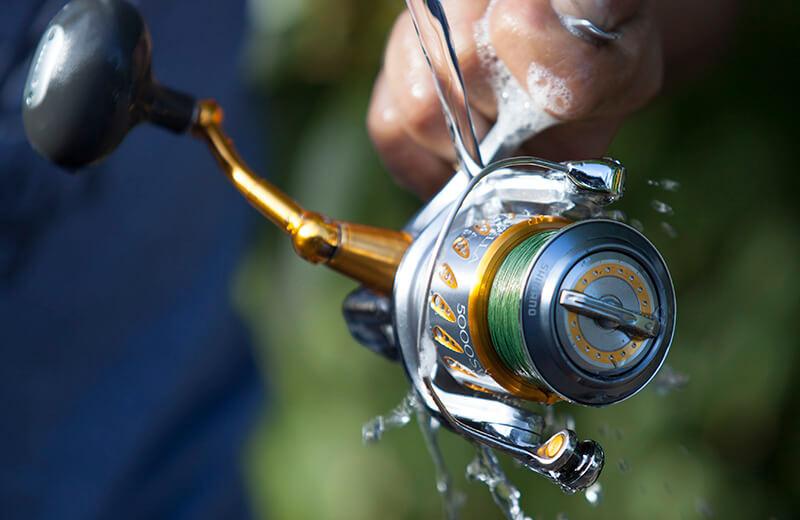 Rinsing the reel