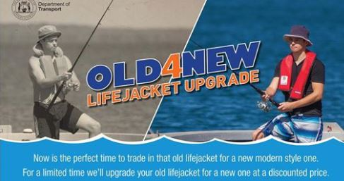 Old for new life jacket ad
