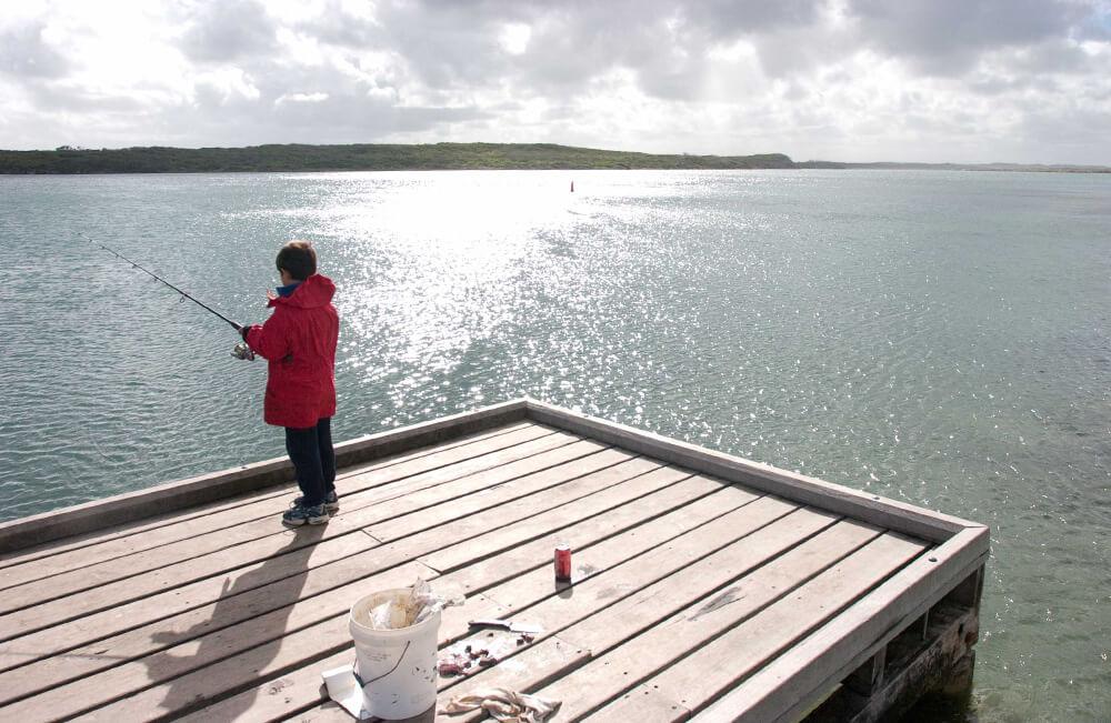 Estuary jetty fishing